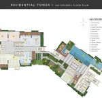 residential tower 360 degrees floor plan
