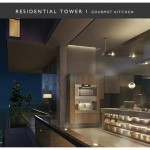 residential tower gourmet kitchen