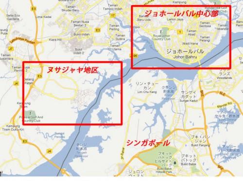 ジョホール地図